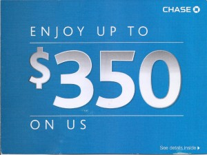 Front cover of Chase self-mailer